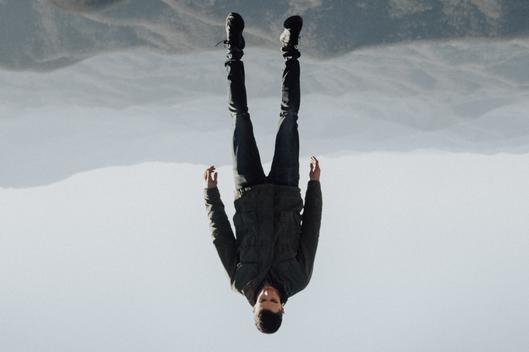 active addict levitating upside down