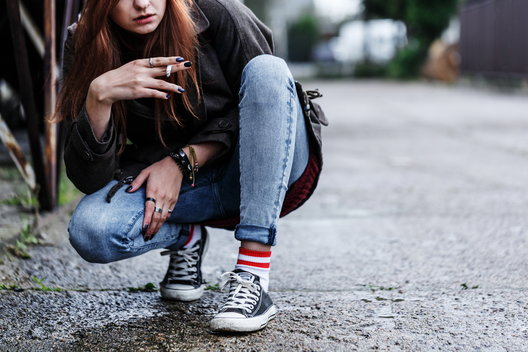 A rebellious teen on the street might be abusing opioids.