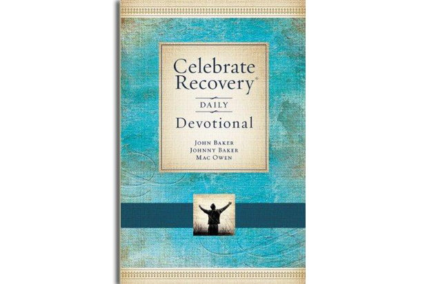 "Front cover of the book ""Celebrate Recovery Daily Devotional by John Baker, Johnny Baker and Mac Owens"