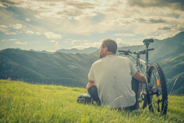 Man enjoys the view and reflects on his recovery journey