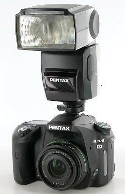 Pentax K100D with AF-540FGZ auto flash unit, image (c) 2006 Steve's Digicams