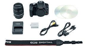 Canon Digital Rebel T1i kit contents