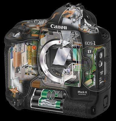 Canon EOS-1D Mark II Pro SLR.