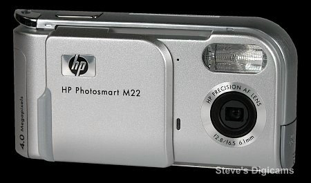Click to take 360-degree QTVR tour of the HP PhotoSmart M22