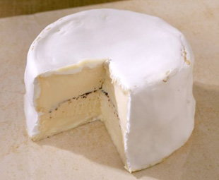 Triple cream cheese from Normandy, France