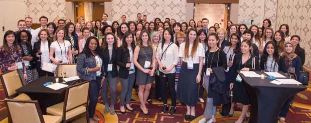 SIR's Women in IR Section gathers for an opening reception at SIR 2018 in Los Angeles. Photo Credit: Photography of North America Corporation.