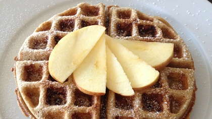 Apple cinnamon waffles.