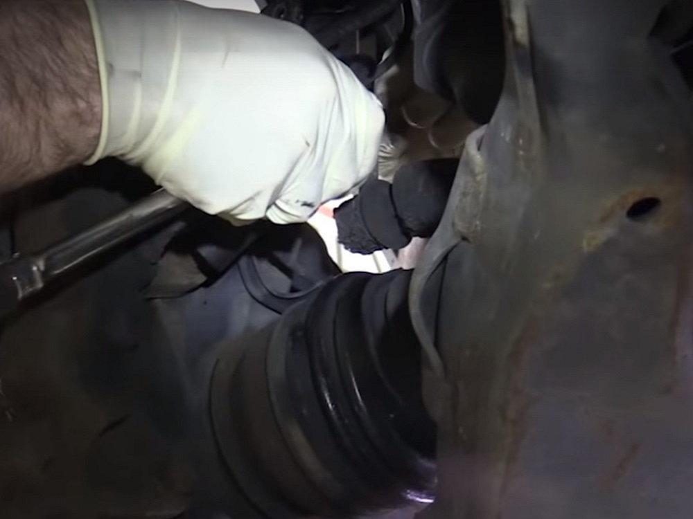 Removing brake caliper bolts