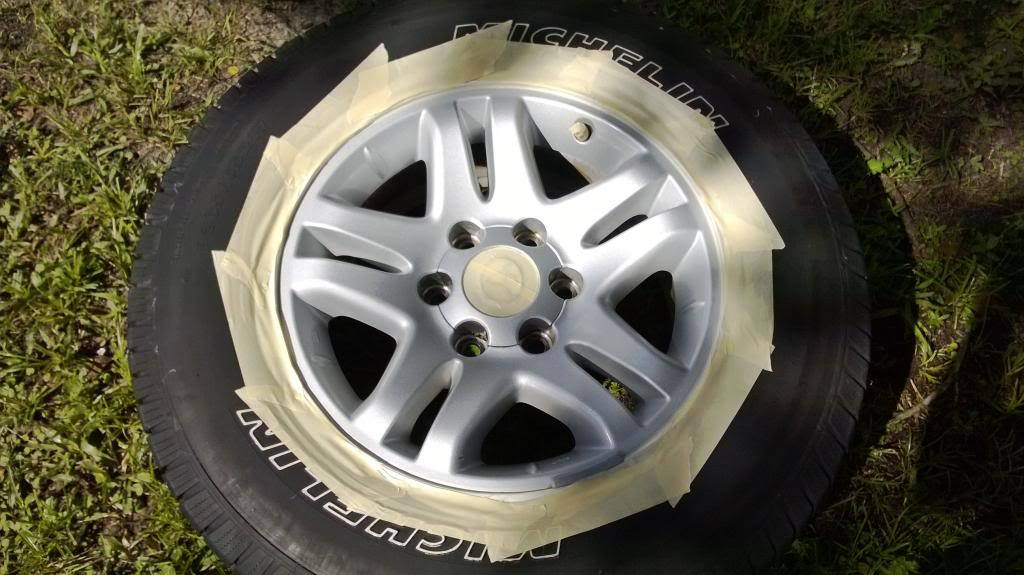 It's not necessary to remove your wheels, but you'll want to allow the paint to fully cure