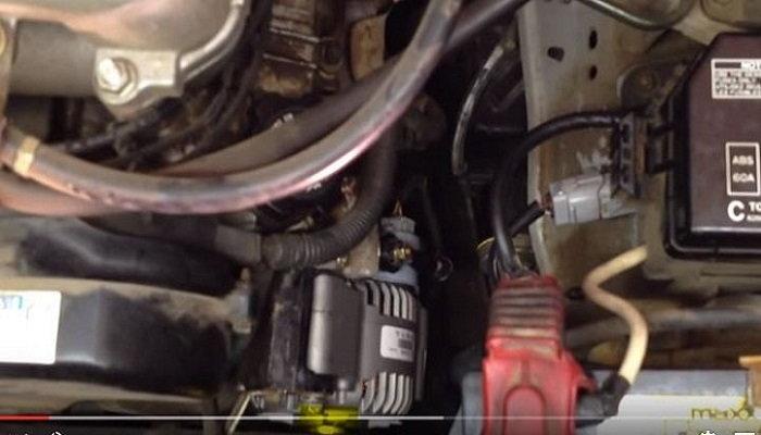 Toyota 4Runner removing alternator and belt