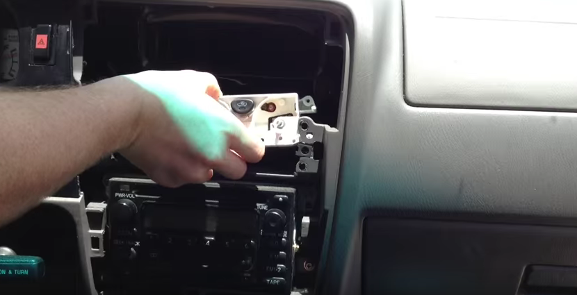 Toyota Tacoma climate control system removal