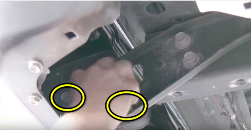 Removing rear bumper bolts