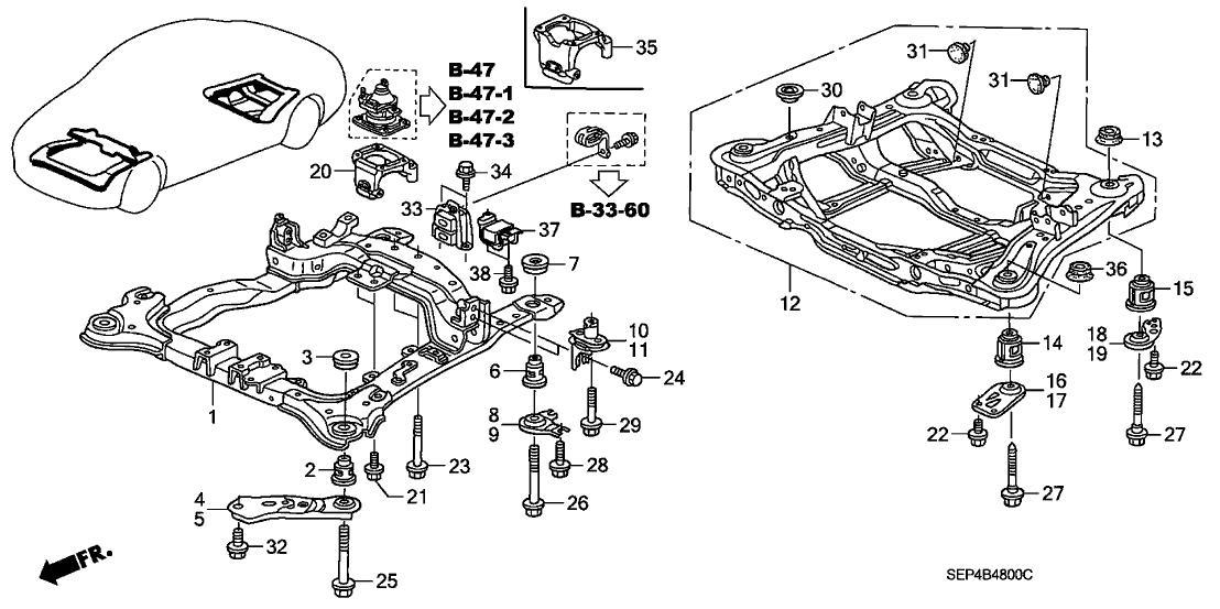 01 acura tl suspension diagram