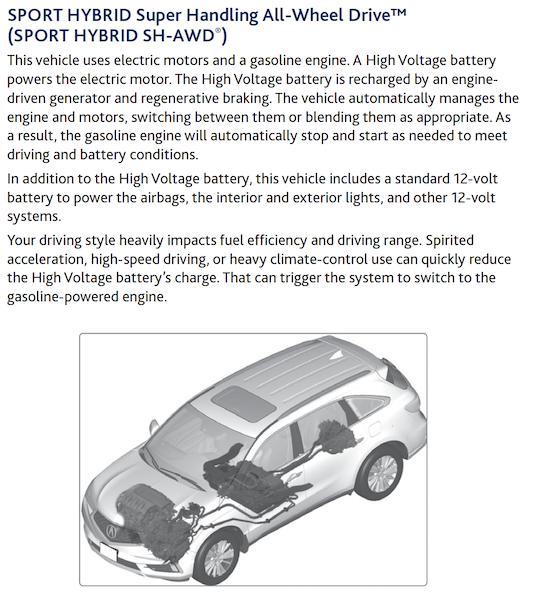 2017 MDX Sport Hybrid Info