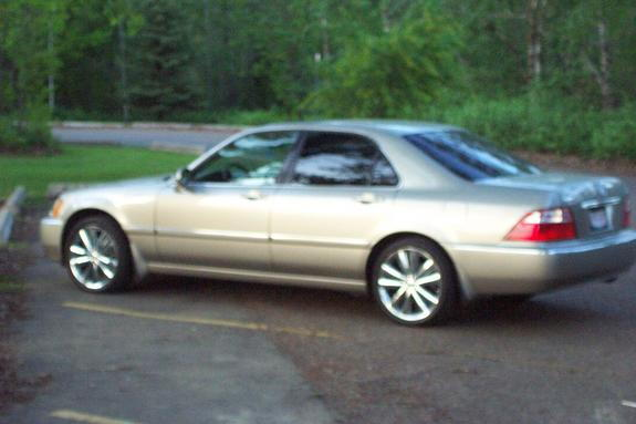 my 2002 acura 3 5 rl on chrome wheels with 2003 taillights. Black Bedroom Furniture Sets. Home Design Ideas