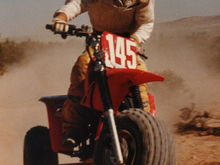 racing a 250r out in the desert in '85