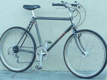 This is my daily rider, my '92 Trek 800 series Antelope. This replaced my 1978 Rampar 10 speed beauty.