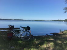 Looking at Lake Elysian during a two-day tour between Mankato and Fairbault MN.