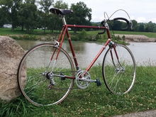 1974 Schwinn Paramount.  I had lusted after this bike for several years, and about 1 year after the divorce, could finally afford it.  Paid near FMV ($1000) for it with no regrets.