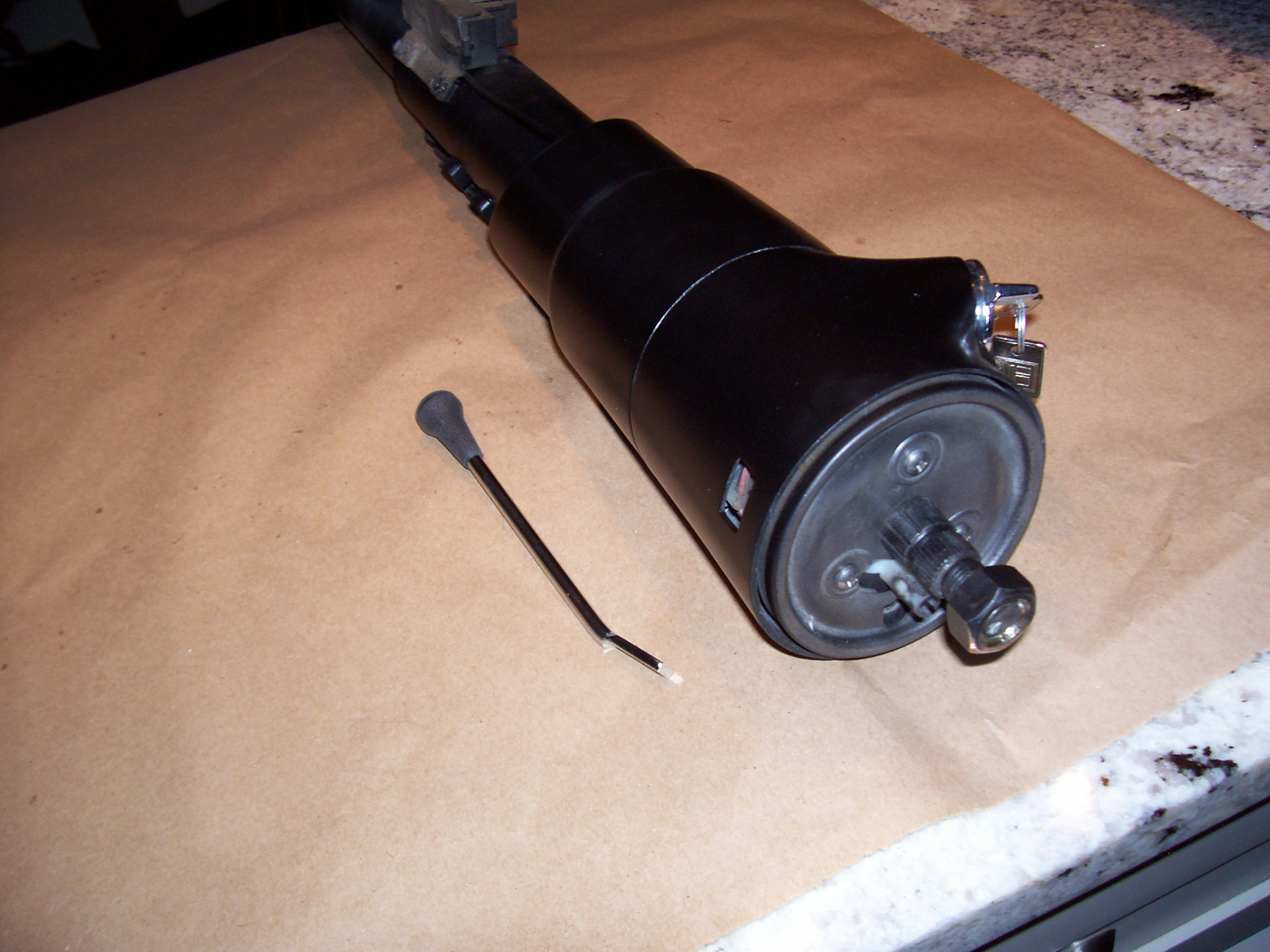 69-72 Cutlass 442 Floorshift Black Steering Column Real GM