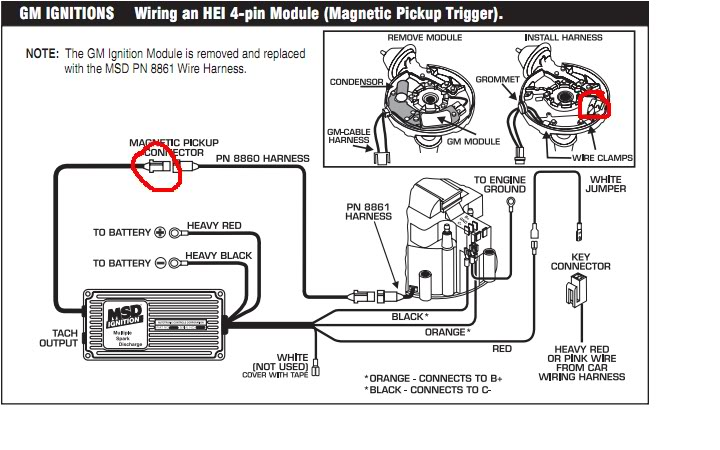 Msd 8861 Wiring Diagram Hei - Wiring Diagram Section Harness Hei Gm Wiring Diagram For on
