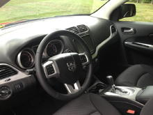 Black cloth interior with Uconnect 8.1