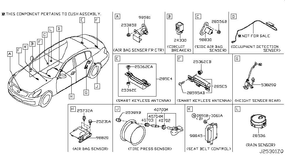Crash zone front sensor location - G35Driver - Infiniti G35