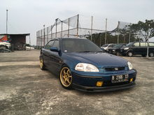 This is my old setup with gold Advan RG1 16x7 offset 31 with 4x100 bolt patterns