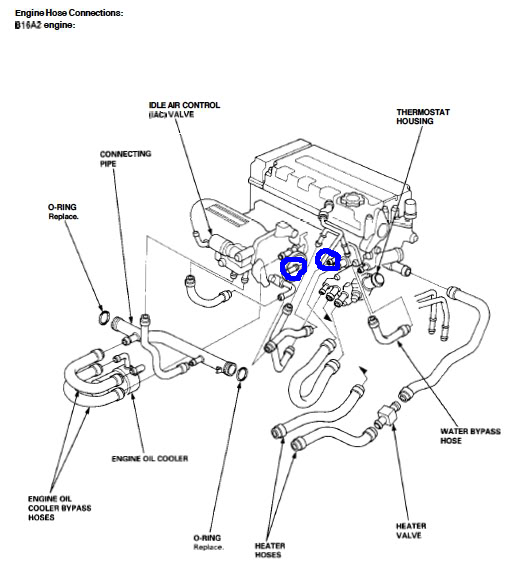 Throttle Body Hose 3235716 on acura rsx engine diagram
