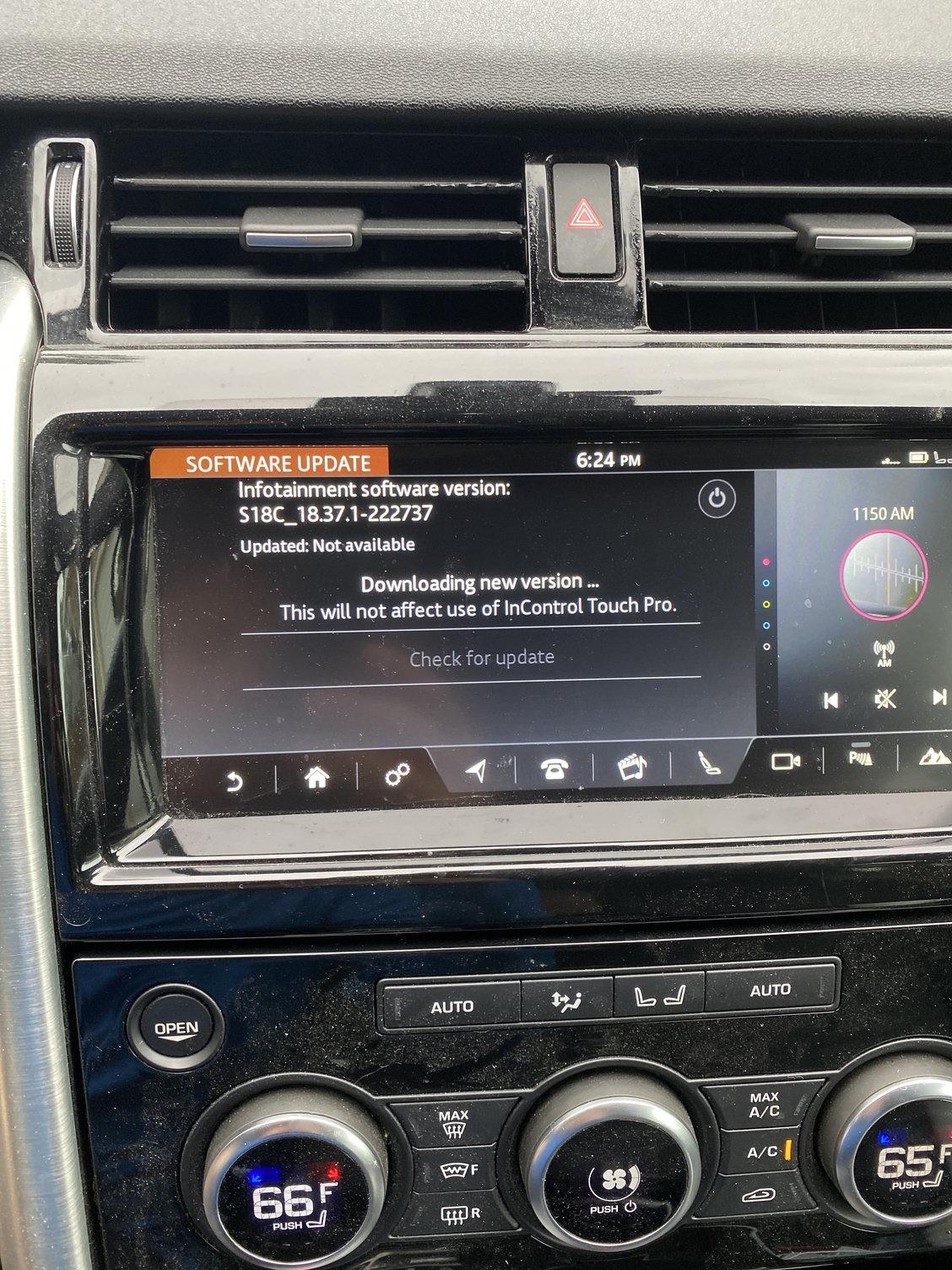 sirius radio updating stuck