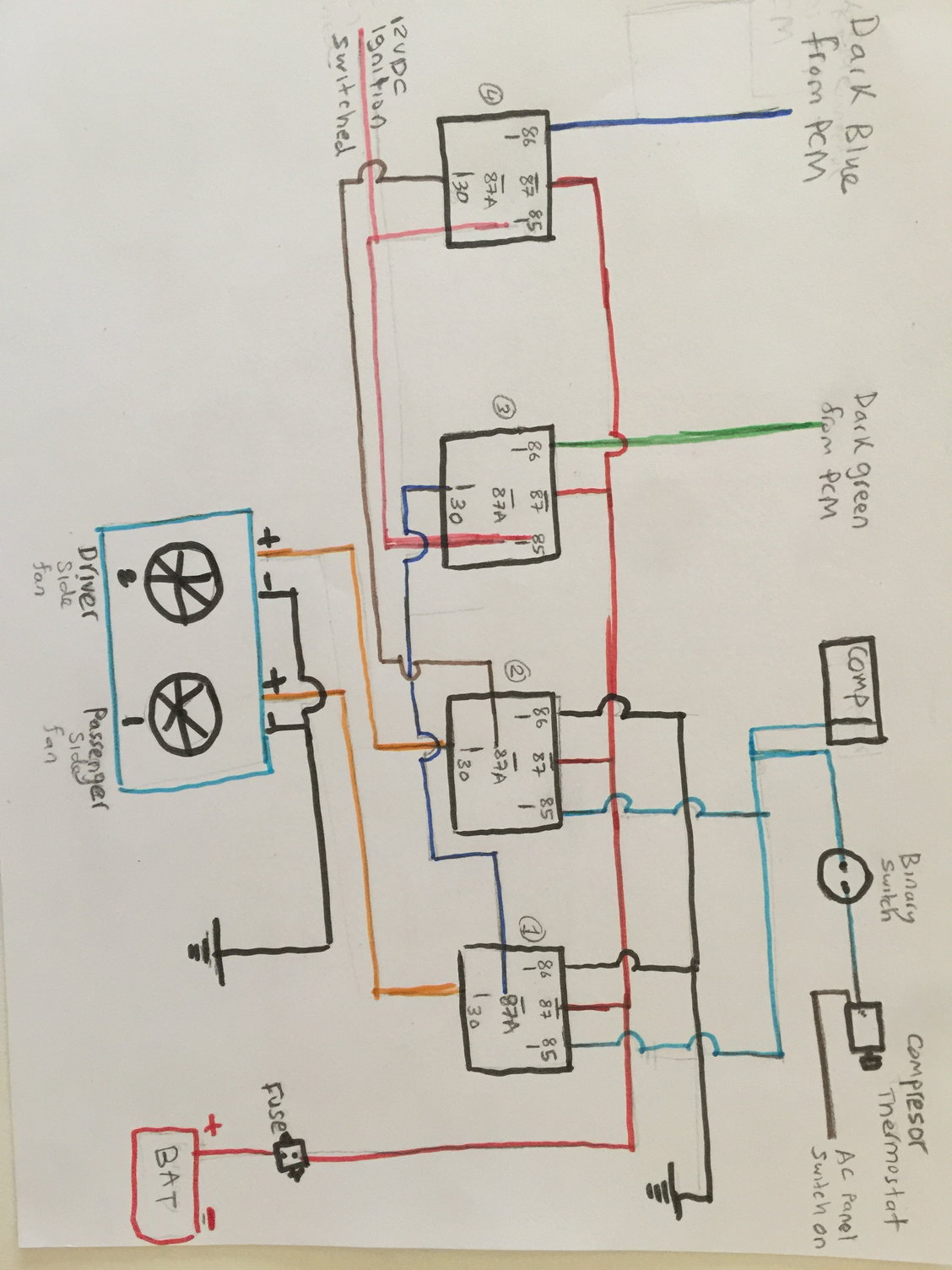 [ZHKZ_3066]  Dual cooling fan wiring with Trinary Switch and LS1 PCM - LS1TECH - Camaro  and Firebird Forum Discussion | Trinary Switch Wiring Diagram |  | LS1Tech.com
