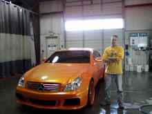 """me, and young jocs car we customized at work. dont belive me, check out his """" coffee shop video."""""""