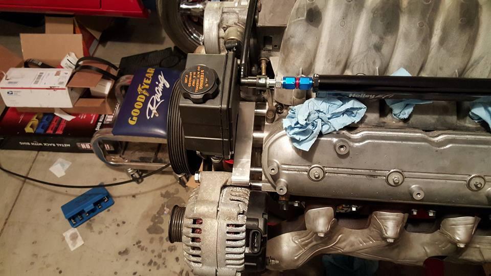 Speedway Motors Ls High Mount Alternator And P  S Bracket