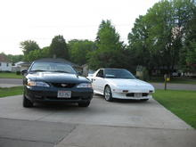 98 Mustang GT V8 Convertible with the 88 Toyota MR2