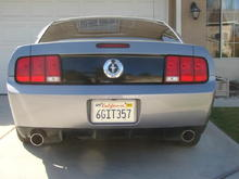GT500 rear with vinyl blackout