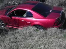 My car... In a ditch