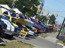 one small side of stretch of Mustang Alley