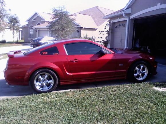 car after quick wash & spray wax.