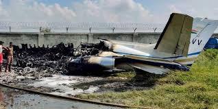 Citation XLS VT-AVV landing accident at Aligarh India