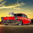 1957 Chevy Ultimate Pro Street Chassis Car Hardtop Bel Air
