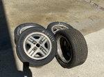 Mazda racing wheels and tires.