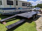 Heavy duty 16' x 7.75' steel ramp trailer.