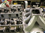 SBF Fully ported aluminum heads and Roush intake