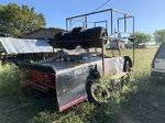 Trailer with tire rack