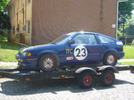Honda CRX racecar, aluminum trailer, parts car & spares