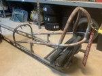 Vintage 60s-70s slingshot nostalgia dragster frame