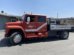 1985 International S1900 Crew Cab 9 ft Flatbed Hauler Truck