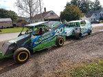 Pair of race cars