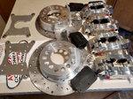 Aerospace AC-840 Rear Dual calipers Dragster Turbo brake kit