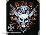 Short Sleeve Black Skull Shirt